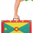 The Grenada flag — Stock Photo