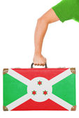The Burundi flag — Stock Photo