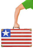 The Liberian flag — Stock Photo
