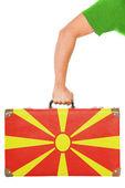 флаг македонии — Стоковое фото