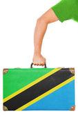La bandera de tanzania — Foto de Stock