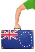 The Cook Islands flag — Stock Photo
