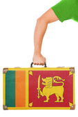 The Sri Lanka flag — Stockfoto