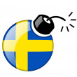 The Swedish flag - Stock Photo
