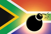 The Republic of South Africa flag — Stock Photo