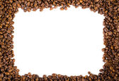 Coffee beans in a frame — Stock Photo