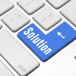 Solution key on the computer keyboard — Stock Photo #26886991