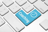 Coaching key on the computer keyboard — Stock Photo