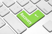 Recovery key on the computer keyboard — Stock Photo