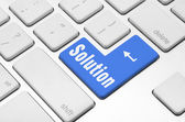 Solution key on the computer keyboard — Stock Photo