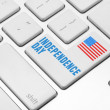 Independence day on the computer keyboard — Stock Photo #27232885