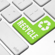 Recycle on the computer keyboard — Stock Photo #27232915