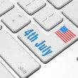 Independence day on the computer keyboard — Stock Photo