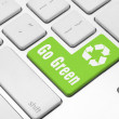 Go Green on the computer keyboard — Stock Photo