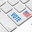 Vote on the computer keyboard — Stock Photo