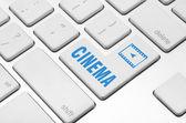 Cine en el teclado de la computadora — Foto de Stock