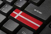 The Danish flag — Stock Photo