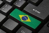 The Brazilian flag — Stock Photo