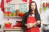 Mutfakta ev kadını — Stok fotoğraf