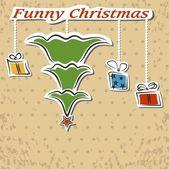 Lustige weihnachten — Stockvektor
