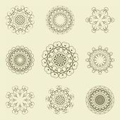 Set of arabesque — Stock Vector