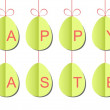 Paper Easter eggs strings - Image vectorielle