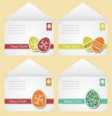 Easter envelopes retro — Stock Vector