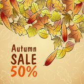 Autumn Sale poster — Stock Vector