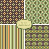 4 Scrapbook patterns — Stock Vector