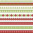 Christmas borders — Stock Vector