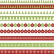 Christmas borders — Image vectorielle