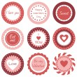 Stock Vector: Cupcake toppers for Valentine's Day