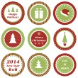 Christmas tags — Stock Vector #35644791