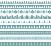 Blue Christmas borders — Stock Vector