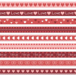 Borders with hearts — Stock vektor #35725353