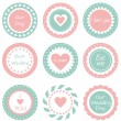 Tags  for wedding — Stock Vector