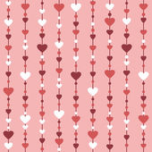 Striped seamless background with hearts — Stock Vector