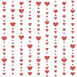 Stock Vector: Seamless pattern with red hearts