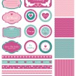 Set for wedding design — Stock Vector