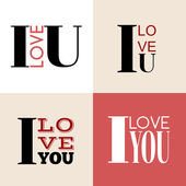 I love you lettering — Stock Vector
