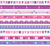 Birthday borders — Stock Vector