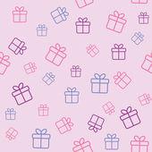 ギフト用の箱のパターン — ストックベクタ