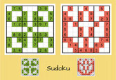 Unique sudoku set — Stock Vector