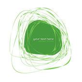 Abstract green frame — Stock Vector