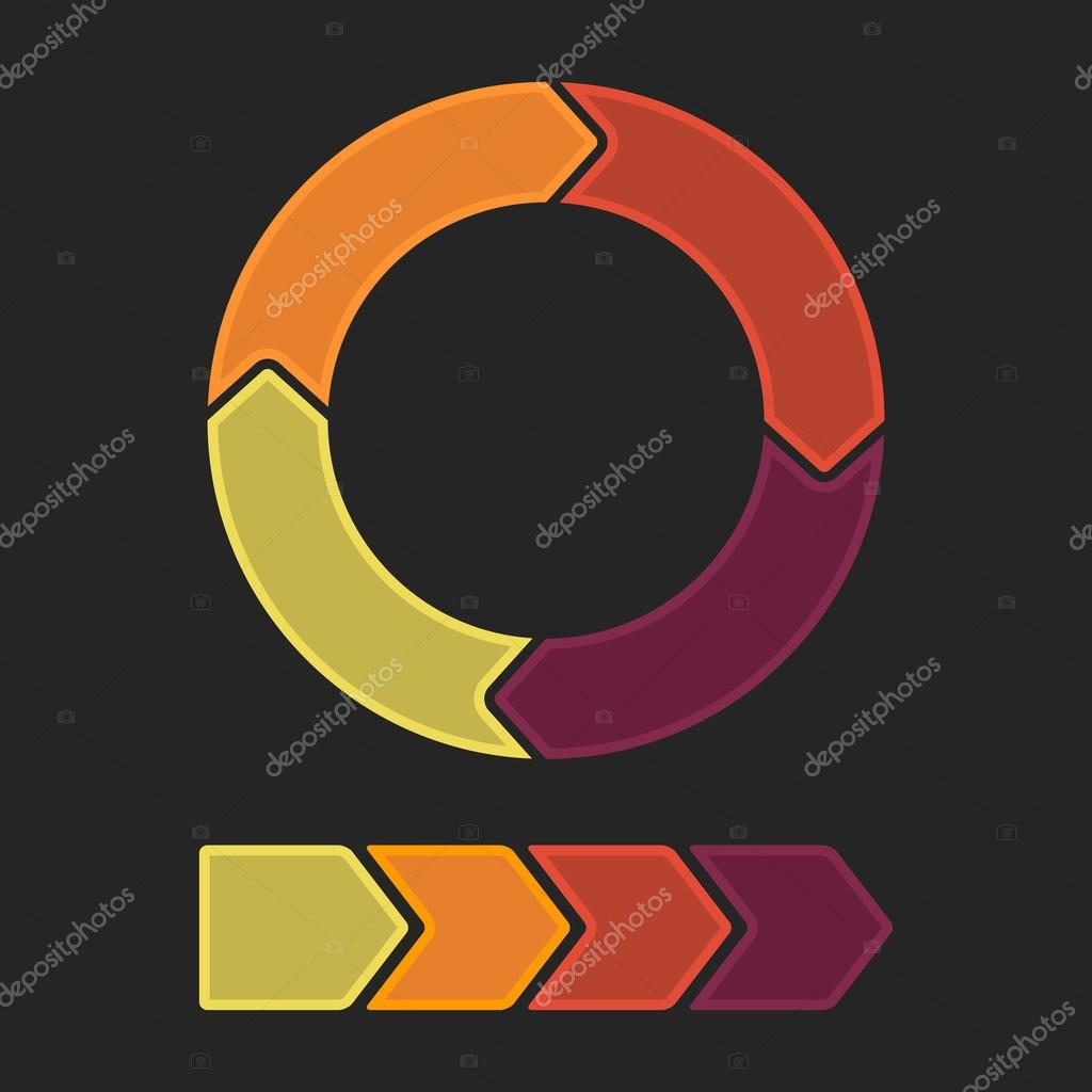 Colorful arrows on black background  Stock Vector #12764415