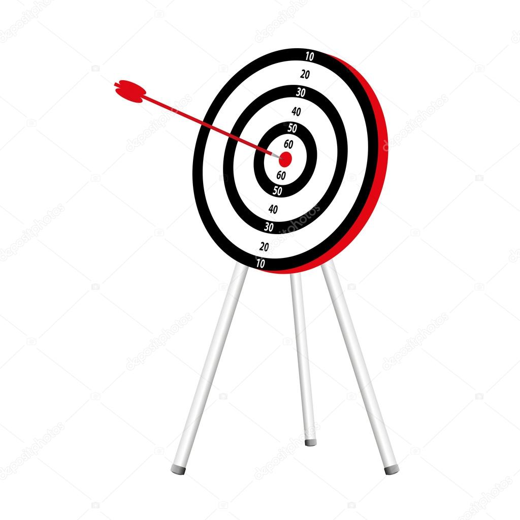 3d target and arrow isolated — Stock Vector #12764613
