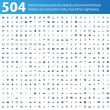 504 blue and grey Icons - Stock Vector