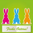 Easter Bunny card — Stock Vector