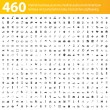 460 iconos grises — Vector de stock