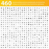 460 icone grigie — Vettoriale Stock